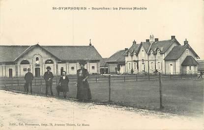 """/ CPA FRANCE 72 """"Saint Symphorien, Sourches la Ferme modèle"""""""
