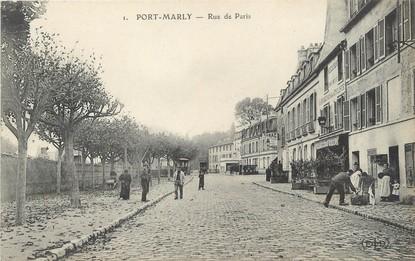 Cpa france 78 port marly rue de paris 78 yvelines for Agrandissement maison houilles