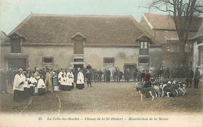 """/ CPA FRANCE 78 """"La Celle Les Bordes, chasse de la Saint Hubert"""""""