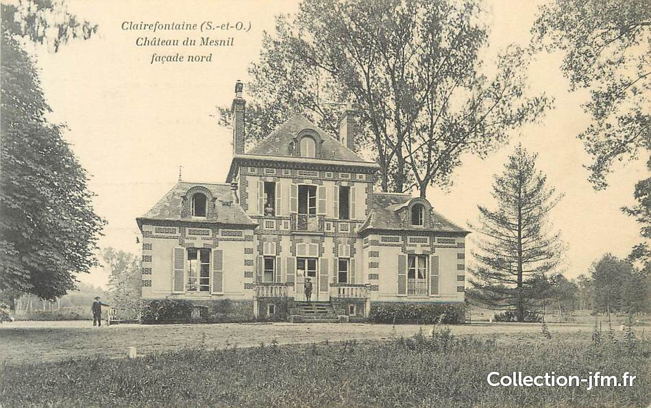 Cpa france 78 clairefontaine ch teau du mesnil 78 for Chateau yveline