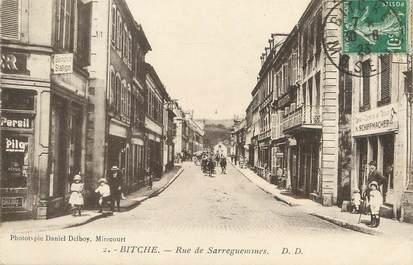 """/ CPA FRANCE 57 """"Bitche, rue de Sarreguemines"""""""