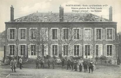 """/ CPA FRANCE 78 """"Saint Mesme, école, 13ème d'artillerie"""""""