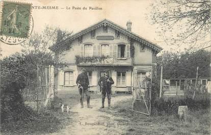 """/ CPA FRANCE 78 """"Saint Mesme, le poste du pavillon"""" / MILTAIRE"""