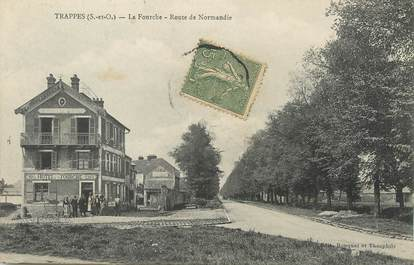 "/ CPA FRANCE 78 ""Trappes, La Fourche, route de Normandie"""