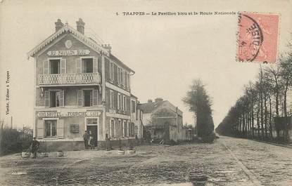 """/ CPA FRANCE 78 """"Trappes, la pavillon bleu et la route Nationale"""""""