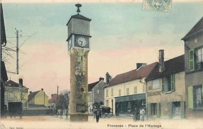 """/ CPA FRANCE 78 """"Freneuse, place de l'horloge"""""""