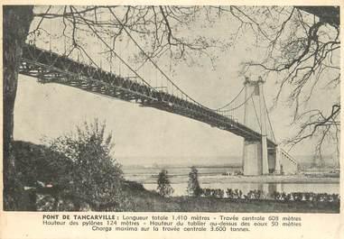 """/ CPSM FRANCE 76 """"Pont de Tancarville"""" / CARTE PUBLICITAIRE / BIERE"""