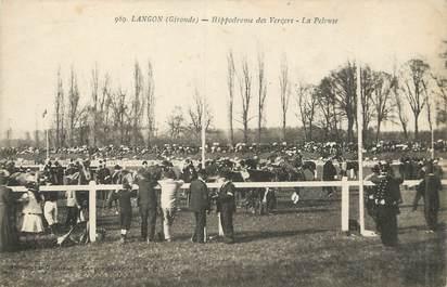 """/ CPA FRANCE 33 """"Langon, hippodrome des Vergers"""""""