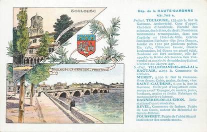 """/ CPA FRANCE 31 """"Département de la haute Garonne"""""""