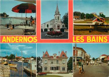 """/ CPSM FRANCE 33 """"Andernos Les Bains, divers aspects"""""""