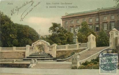 """/ CPA FRANCE 57 """"Metz, la nouvelle fontaine à l'esplanade"""""""
