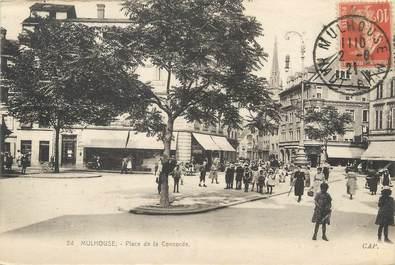 """/ CPA FRANCE 68 """"Mulhouse, place de la concorde"""""""