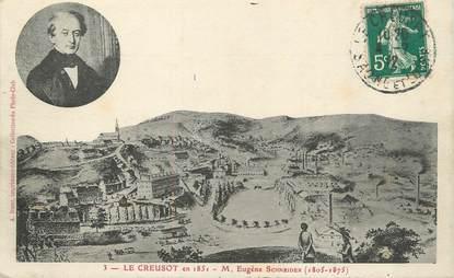"/ CPA FRANCE 71 ""Le Creusot en 1851"""