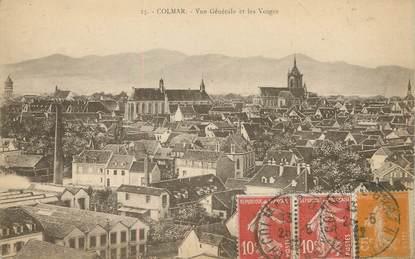 """/ CPA FRANCE 68 """"Colmar, vue générale et les Vosges"""""""