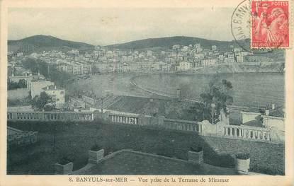 "/ CPA FRANCE 66 ""Banyuls sur Mer, vue prise de la terrasse de Miramar"""