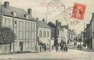 """61 Orne / CPA FRANCE 61 """"Moulins La Marche, place de la gendarmerie et grande rue"""""""