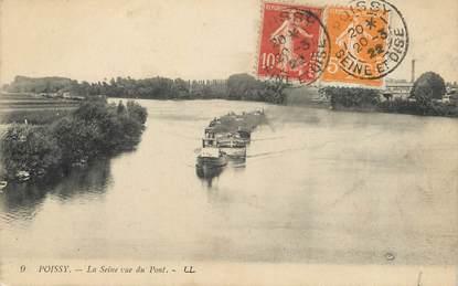 """/ CPA FRANCE 78 """"Poissy, la Seine vu du pont"""""""