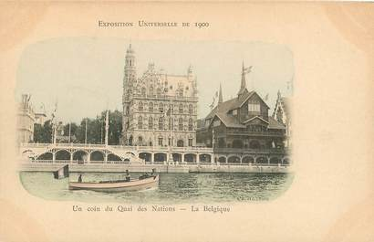 CPA FRANCE PARIS / EXPOSITION UNIVERSELLE 1900 / BELGIQUE, un coin du quai des Nations