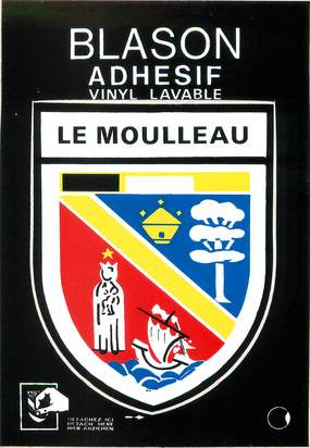 "/ CPSM FRANCE 33 ""Le Moulleau"" / BLASON ADHESIF"