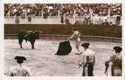 """Theme CPSM CORRIDA """"Course de taureaux, commencement du travail de mulets"""""""
