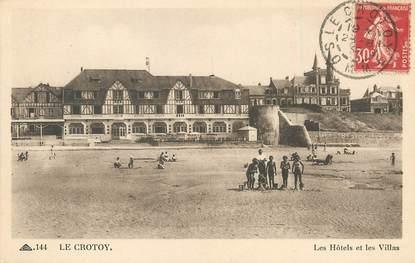 """/ CPA FRANCE 80 """"Le Crotoy, les hôtels et les villas"""""""