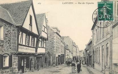 """/ CPA FRANCE 22 """"Lannion, rue des Capucins"""""""
