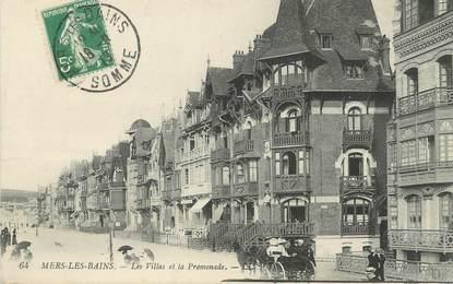 """/ CPA FRANCE 80 """"Mers Les Bains, les villas et la promenade"""""""
