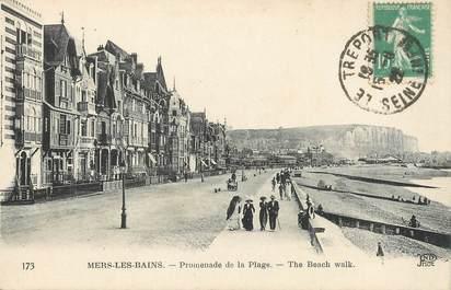 """/ CPA FRANCE 80 """"Mers Les Bains, promenade de la plage"""""""