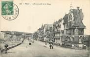 "80 Somme / CPA FRANCE 80 ""Mers, la promenade de la plage"""