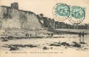 """80 Somme / CPA FRANCE 80 """"Mers Les Bains, vue prise de la plage"""""""