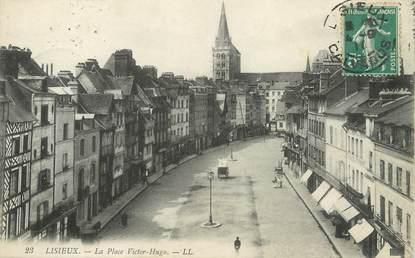 "/ CPA FRANCE 14 ""Lisieux, la place Victor Hugo"""