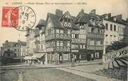 """14 Calvado / CPA FRANCE 14 """"Lisieux, vieilles maisons, place du marché au beurre"""""""
