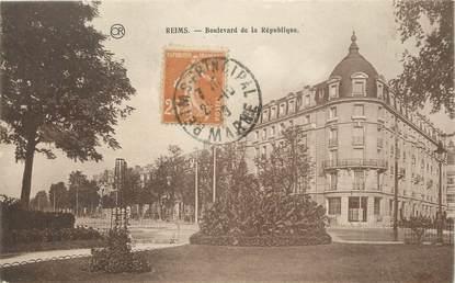 """/ CPA FRANCE 51 """"Reims, bld de la république"""""""