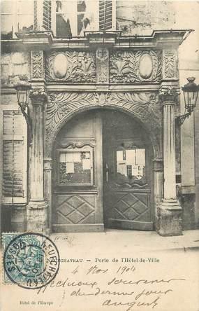 """/ CPA FRANCE 88 """"Neufchâteau, porte de l'hôtel de ville"""""""
