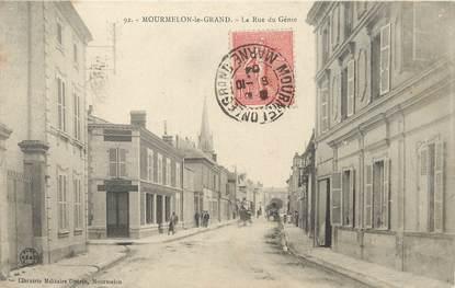 """/ CPA FRANCE 51 """"Mourmelon Le Grand, la rue du Génie"""""""