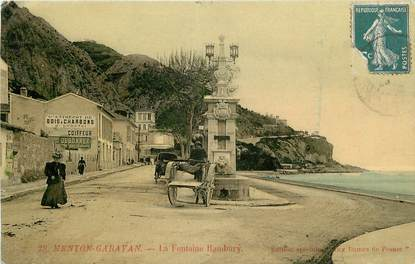 "CPA FRANCE 06 ""Menton, la Fontaine Hambury"""