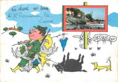 """/ CPSM FRANCE 33 """"Saint Romain la Virvée"""" / CHASSE"""