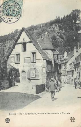 """/ CPA FRANCE 23 """"Aubusson, vieille maison rue de la Terrade"""""""