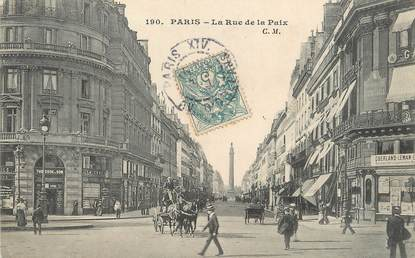 "/ CPA FRANCE 75002 ""Paris, la rue de la Paix"""