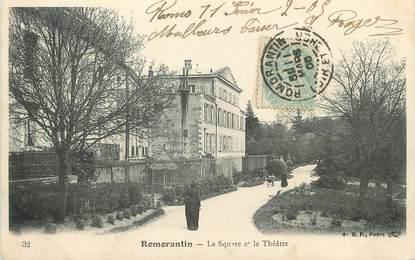 """/ CPA FRANCE 41 """"Romorantin, le square et le théâtre"""""""