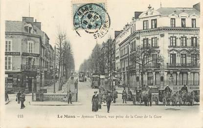 "/ CPA FRANCE 72 ""Le Mans, av Thiers"""