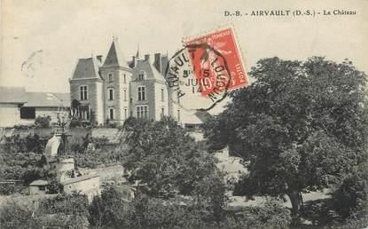 """/ CPA FRANCE 79 """"Airvault, le château"""" / CACHET AMBULANT"""
