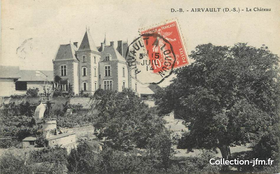 Cpa france 79 airvault le ch teau cachet ambulant for Airvault 79