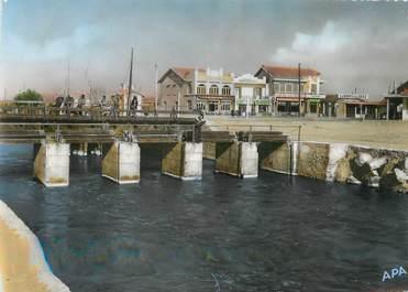 """/ CPSM FRANCE 34 """"Carnon plage, le pont du canal et l'entrée de Carnon"""""""