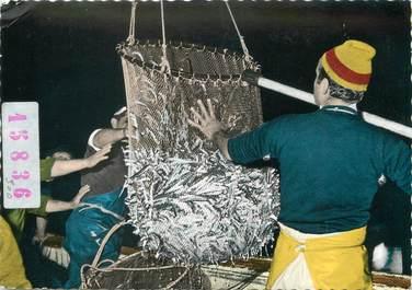 """/ CPSM FRANCE 34 """"Sète, la pêche à la sardine"""""""