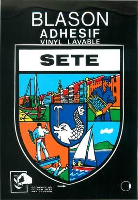 "/ CPSM FRANCE 34 ""Sète"" / BLASON ADHESIF"