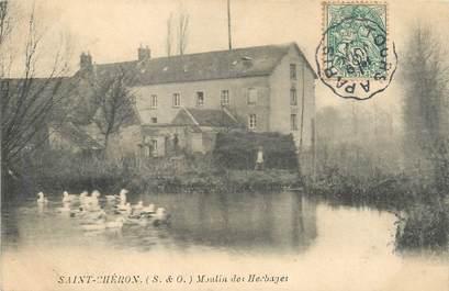 """/ CPA FRANCE 91 """"Saint Chéron, moulin des Herbages"""" / CACHET AMBULANT"""