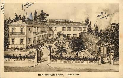 "CPA FRANCE 06 ""Menton, Rue Urbana, Windsor Hotel"""