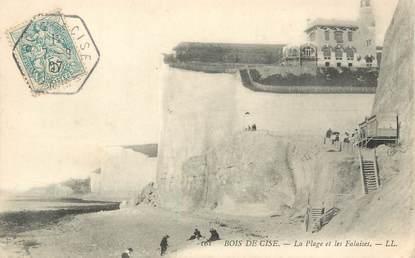 """/ CPA FRANCE 80 """"Bois de Cise, la plage et les Falaises"""""""