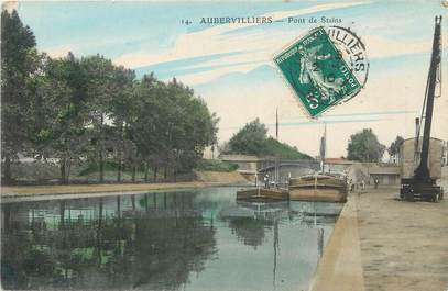 """/ CPA FRANCE 93 """"Aubervilliers, pont de Stains"""""""